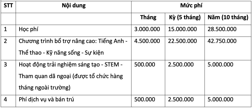 Học phí bậc tiểu học các trường tư thục có tiếng ở Hà Nội - 4