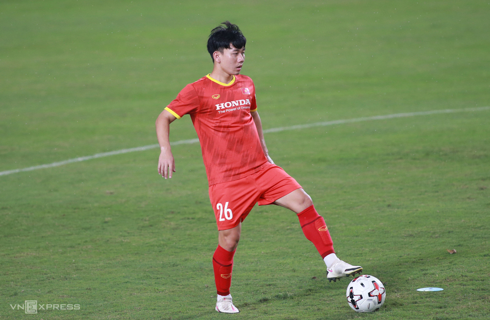 Tran Minh Vuong เล่นได้ดีช่วย HAGL ขึ้นสู่ V-League 2021 ในฐานะตัวเต็งที่จะมาแทนที่ Hung Dung ในทีมเวียดนาม  ภาพ: ลำทอ