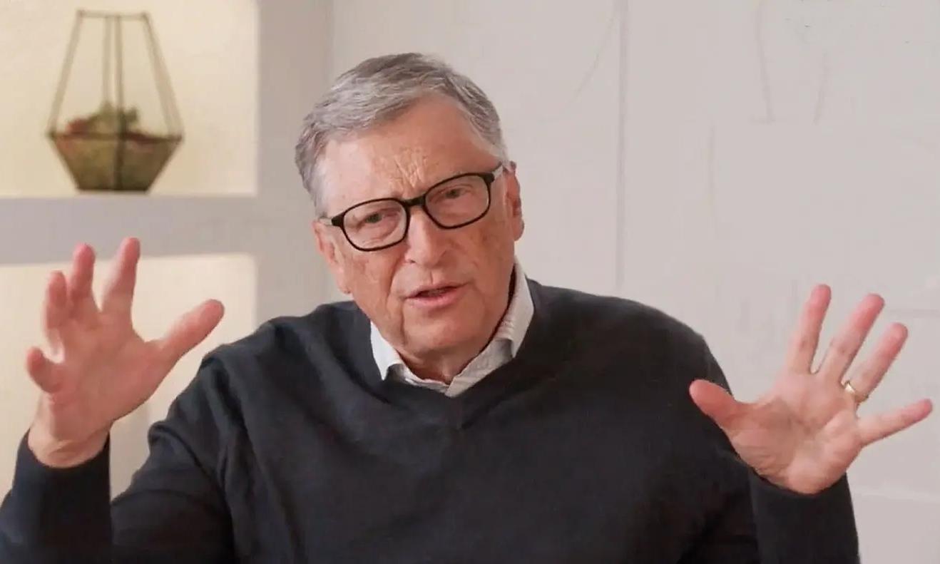 Tỷ phú Bill Gates vẫn đeo nhẫn cưới trong cuộc họp qua Zoom với Phòng Thương mại Mỹ hôm 19/5. Ảnh chụp màn hình: Twitter/Phòng Thương mại Mỹ