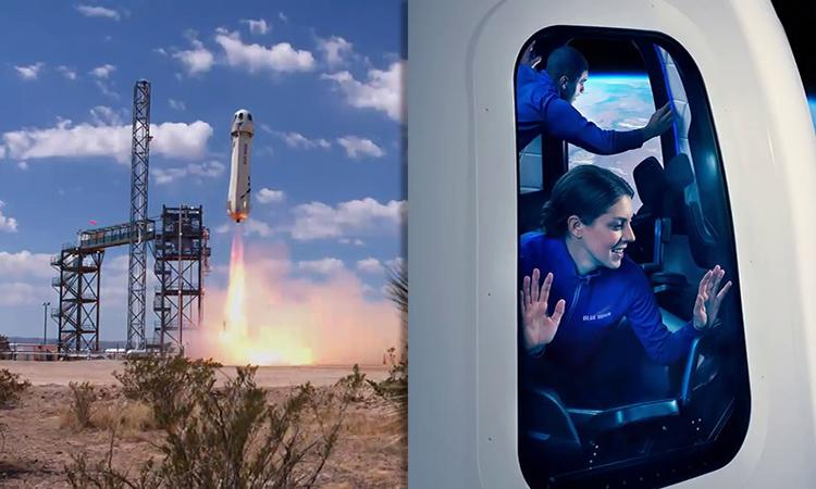 Chuyến bay chở người đầu tiên của tàu New Shepard dự kiến cất cánh vào tháng 7. Ảnh: Blue Origin.