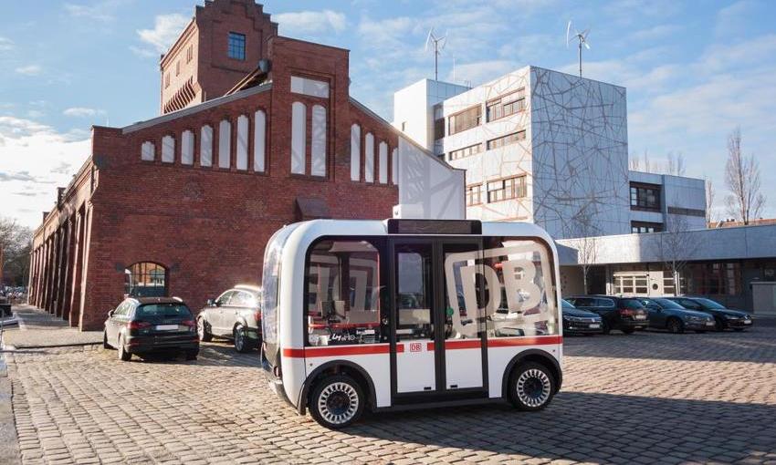 Xe buýt tự lái chạy thử ở Berlin, Đức. Ảnh: ResearchGate