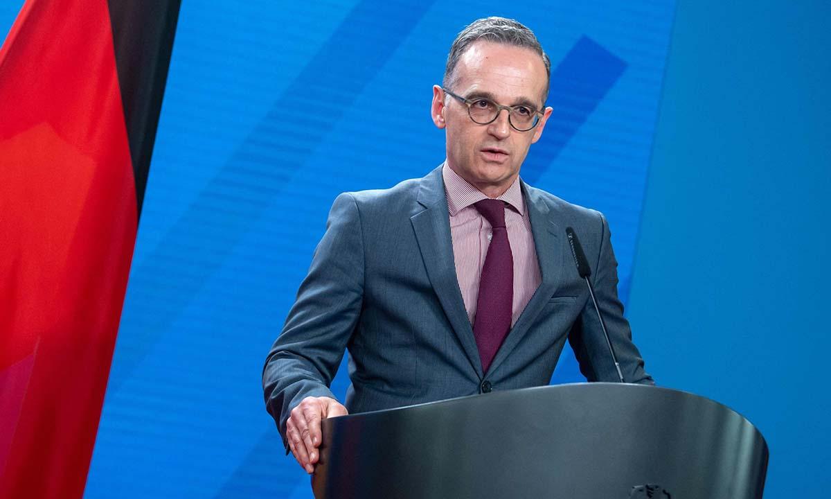 Ngoại trưởng Đức Heiko Maas phát biểu trước báo giới tại Berlin hôm nay. Ảnh: AFP.