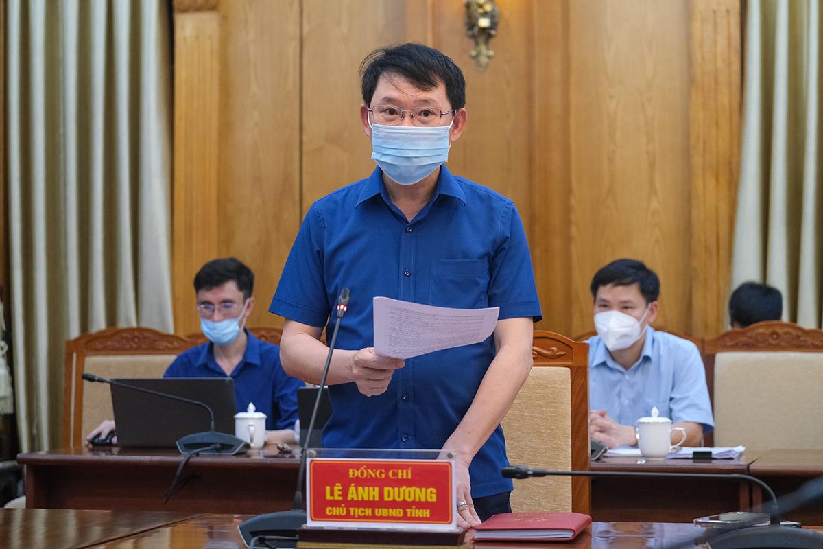 Ông Lê Ánh Dương, Chủ tịch UBND tỉnh Bắc Giang. Ảnh: Bộ Y tế