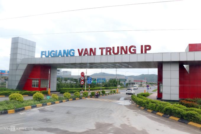 Khu công nghiệp Vân Trung, huyện Việt Yên, tỉnh Bắc Giang. Ảnh: Võ Hải