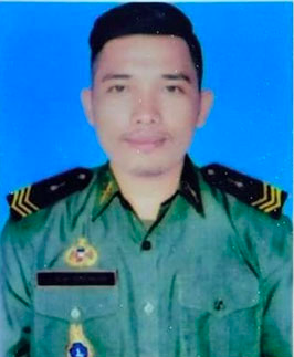 Sĩ quan Campuchia Mean Vay. Ảnh: Khmer Times.