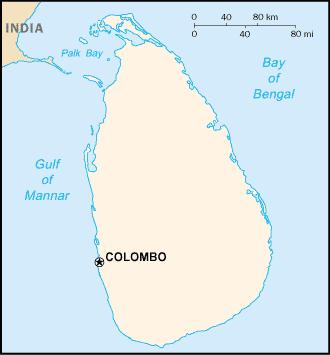 Vị trí Colombo. Đồ họa: Wikipedia.