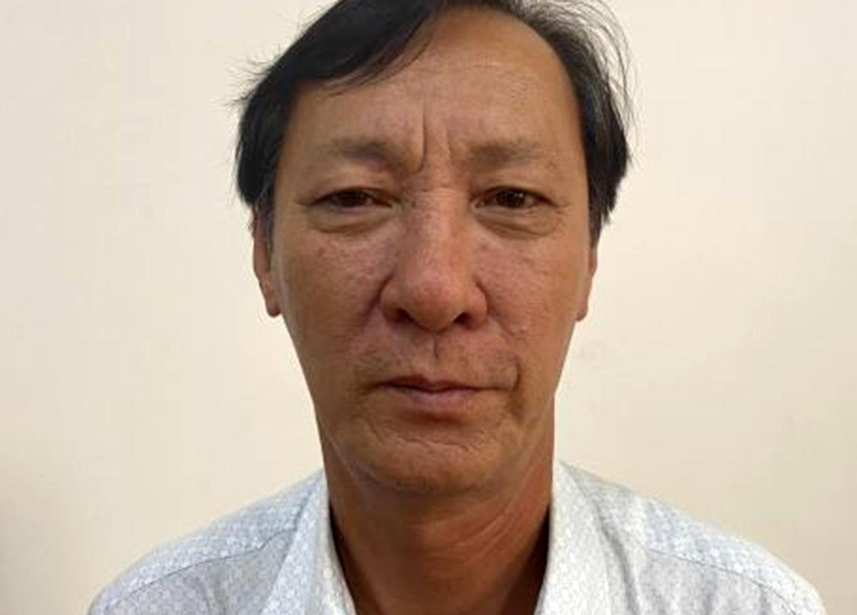 Ông Hồ Văn Ngon tại cơ quan điều tra. Ảnh: Bộ Công an.