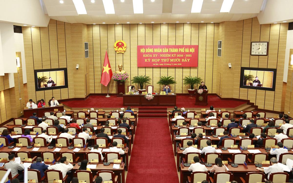 Kỳ họp HĐND TP Hà Nội cuối năm 2020. Ảnh: Võ Hải.