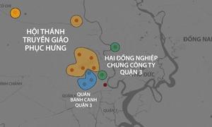 Những khu vực bị phong tỏa ở TP HCM