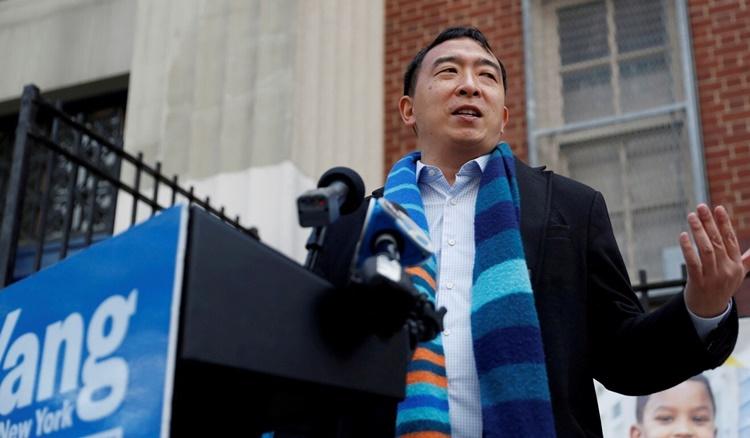 Andrew Yang, ứng viên chạy đua chức thị trưởng New York. Ảnh: Reuters.