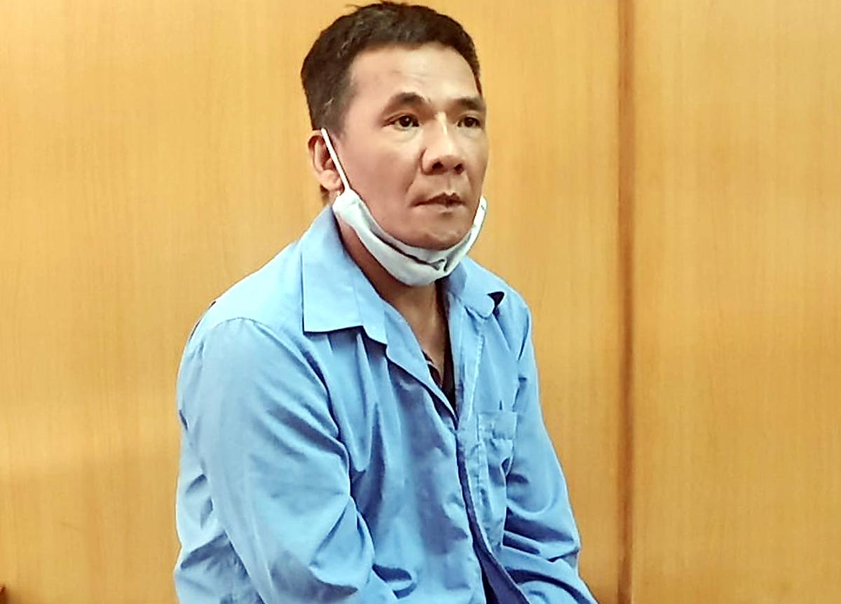 Bị cáo Khanh tại tòa hôm nay. Ảnh: Bình Nguyên.