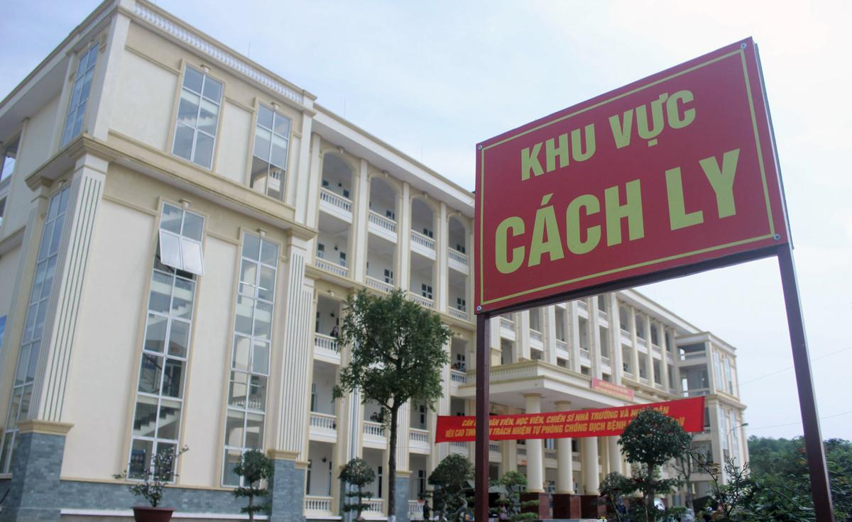 Khu cách ly tập trung tại Trường Quân sự thuộc Bộ Tư lệnh Thủ đô Hà Nội, thị xã Sơn Tây, Hà Nội. Ảnh:Võ Hải