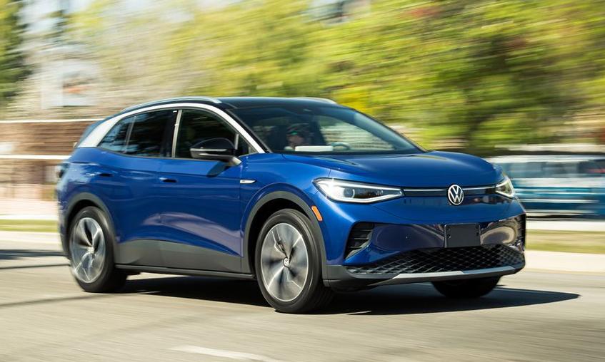 Volkswagen ID.4 - xe điện giá 59.400 USD tại Đức. Ảnh: Car and Driver