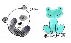 Vẽ hình con vật bằng dấu vân tay