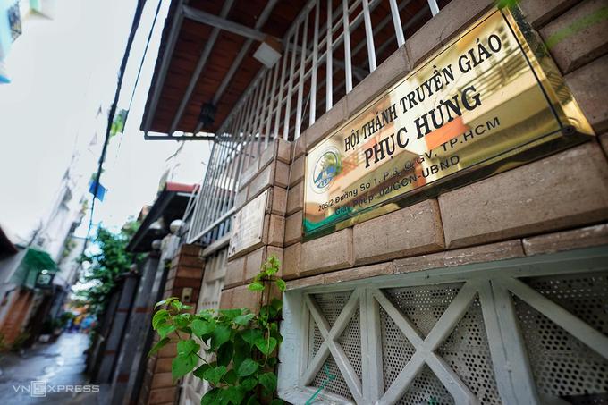 Trụ sở Hội thánh Truyền giáo Phục hưng ở đường Nguyễn Văn Công, phường 3, quận Gò Vấp. Ảnh:Hữu Khoa.