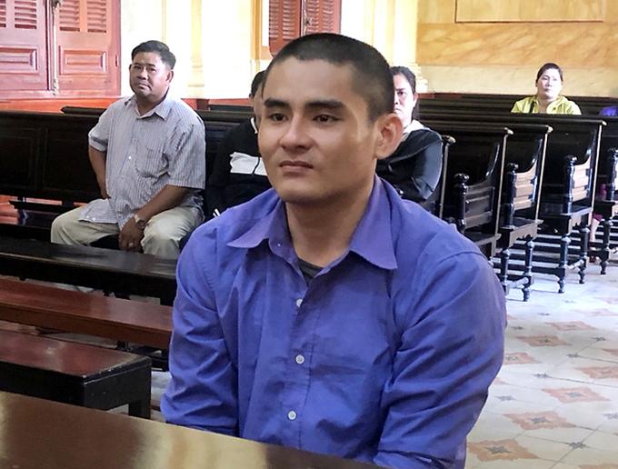 Bị cáo Nam tại tòa sơ thẩm năm ngoái. Ảnh: Bình Nguyên.