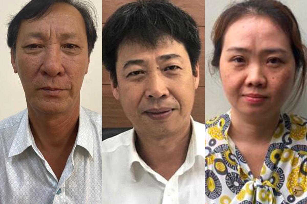 Ba bị can bị khởi tố bổ sung. Ảnh: Bộ Công an.