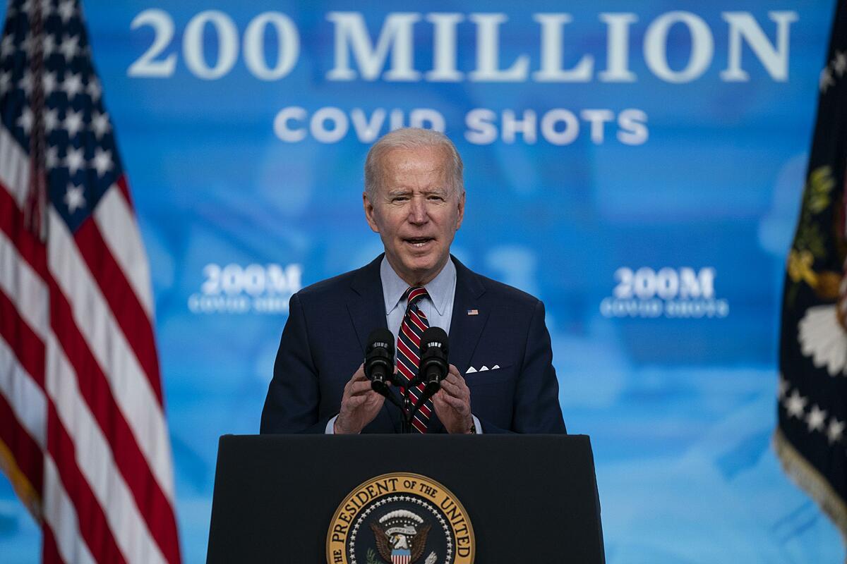Tổng thống Biden tại Nhà Trắng ngày 21/4. Ảnh: AP.