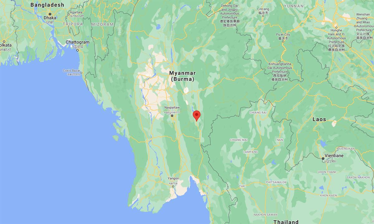 Vị trí thị trấn Demoso (đánh dấu đỏ). Đồ họa: Google.