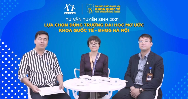 HOCMAI phối hợp với Khoa Quốc tế - Đại học Quốc gia Hà Nội trong chương trình Tư vấn tuyển sinh 2021.