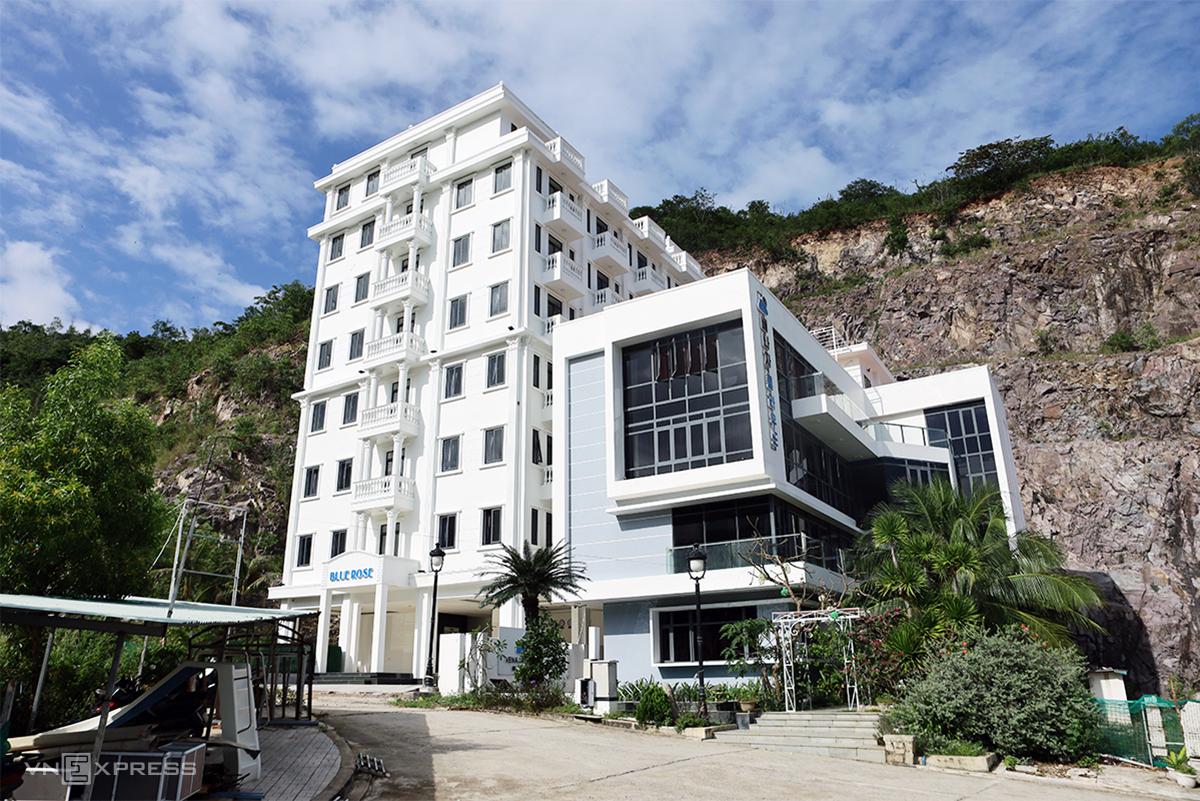 Một trong biệt thự xây sai phép trong khu đô thị Ocean View ở TP Nha Trang