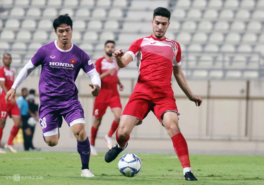 Cong Phuong เล่นอุกอาจในการเสมอ 1-1 กับ Jorsan ในสหรัฐอาหรับเอมิเรตส์