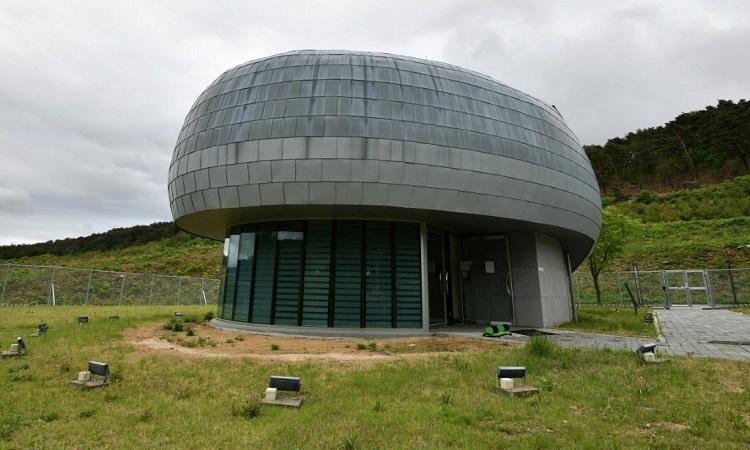 Hầm hạt giống do Cơ quan Tình báo Hàn Quốc thiết kế. Ảnh: AFP.