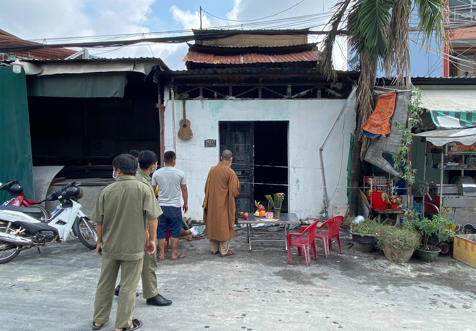 Căn nhà xảy ra hỏa hoạn khiến một phụ nữ tử vong. Ảnh: Đình Văn
