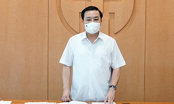 Ông Chử Xuân Dũng kết luận cuộc họp sáng 3/6. Ảnh: HNP.