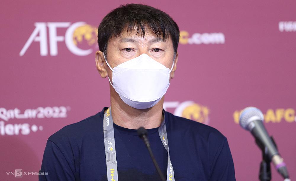 HLV Shin Tae-yong tự tin sẽ giúp Indonesia đá sòng phẳng với Việt Nam trong trận đấu ngày 7/6. Ảnh: Lâm Thoả