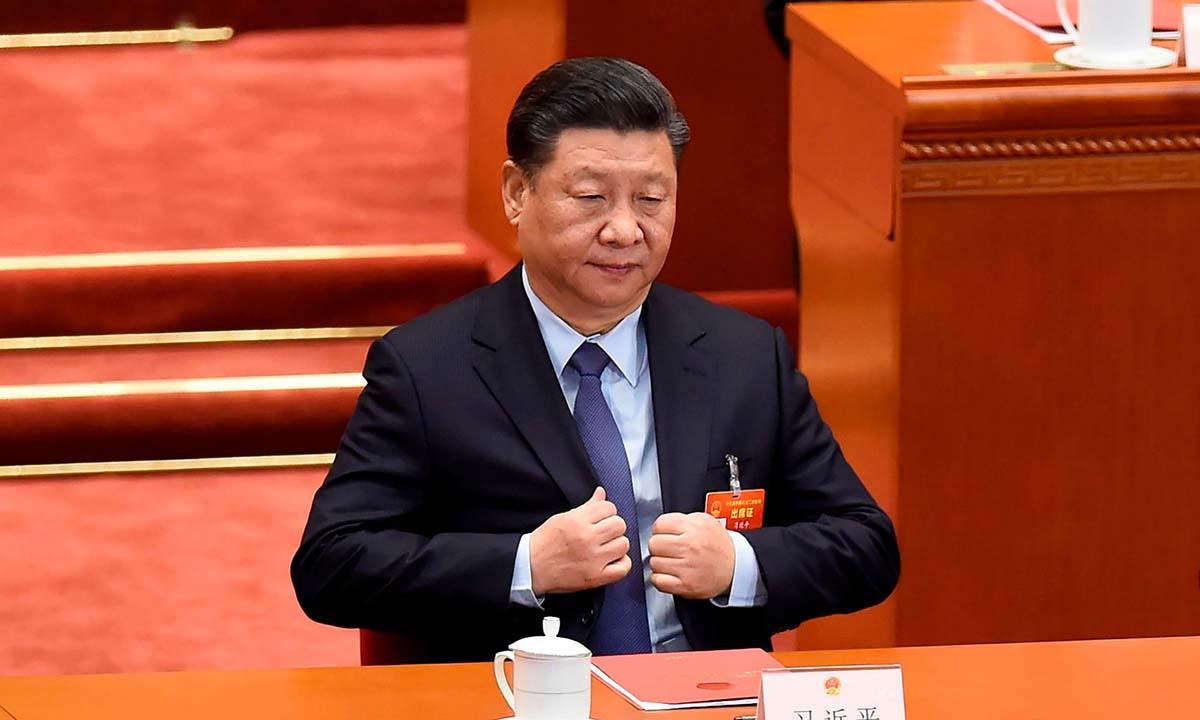 Chủ tịch Trung Quốc Tập Cận Bình tại kỳ họp lưỡng hội vào tháng 3. Ảnh: AFP.