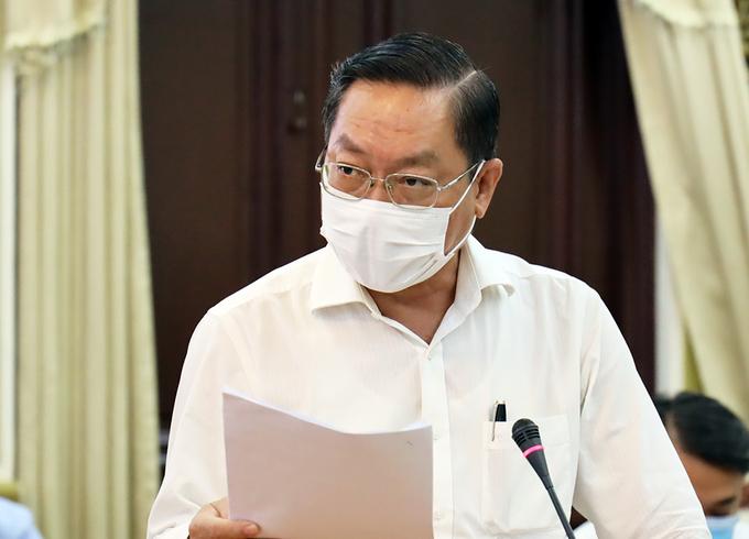 Giám đốc Sở Y tế TP HCM Nguyễn Tấn Bình. Ảnh: Trung tâm báo chí TP HCM.