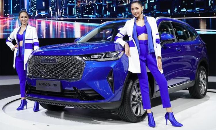Haval H6 giới thiệu tại triển lam ôtô Thái Lan. Ảnh: Paultan