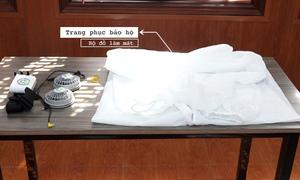 Bộ bảo hộ gắn quạt chống nóng cho nhân viên y tế