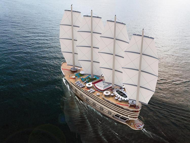 Concept siêu thuyền buồm Galleon. Ảnh: Steve Kozloff.