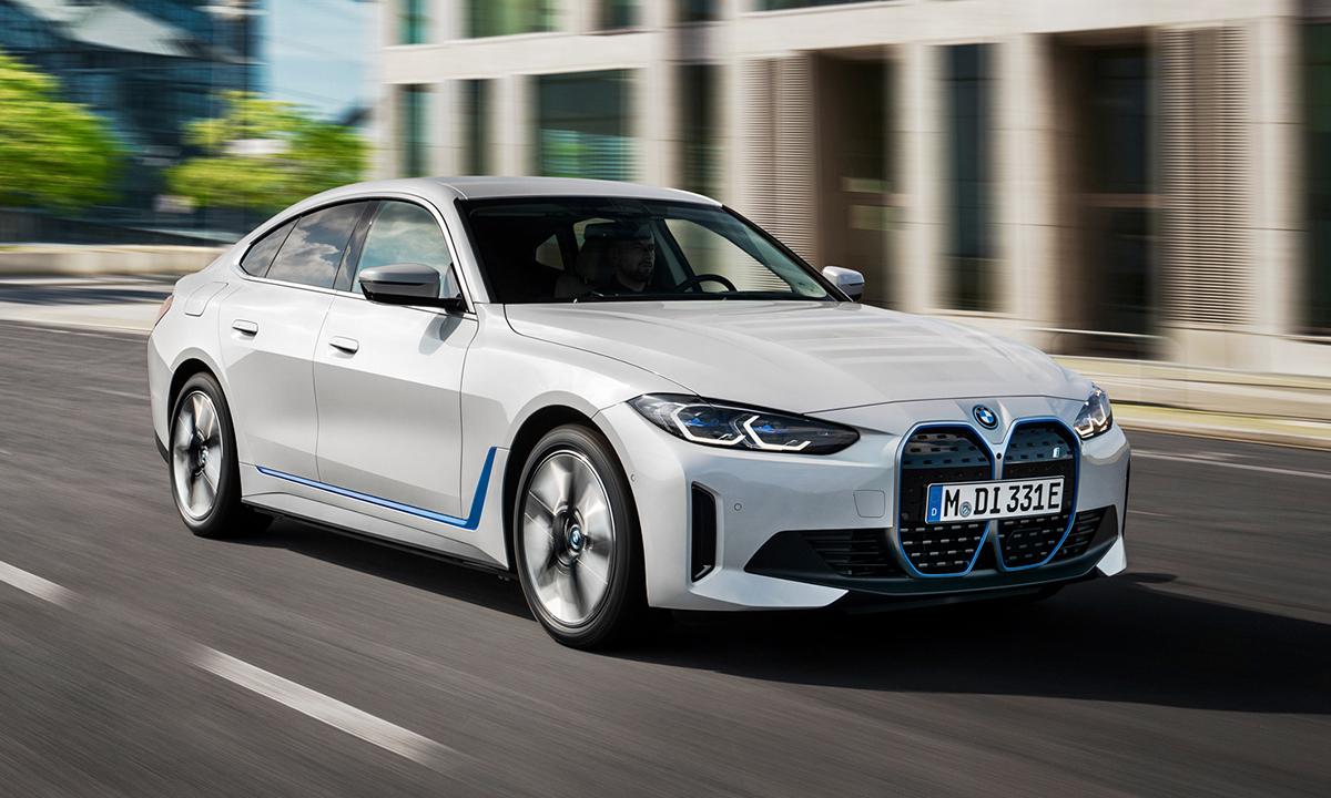 Thiết kế mặt ca-lăng mới trên BMW i4. Ảnh: BMW