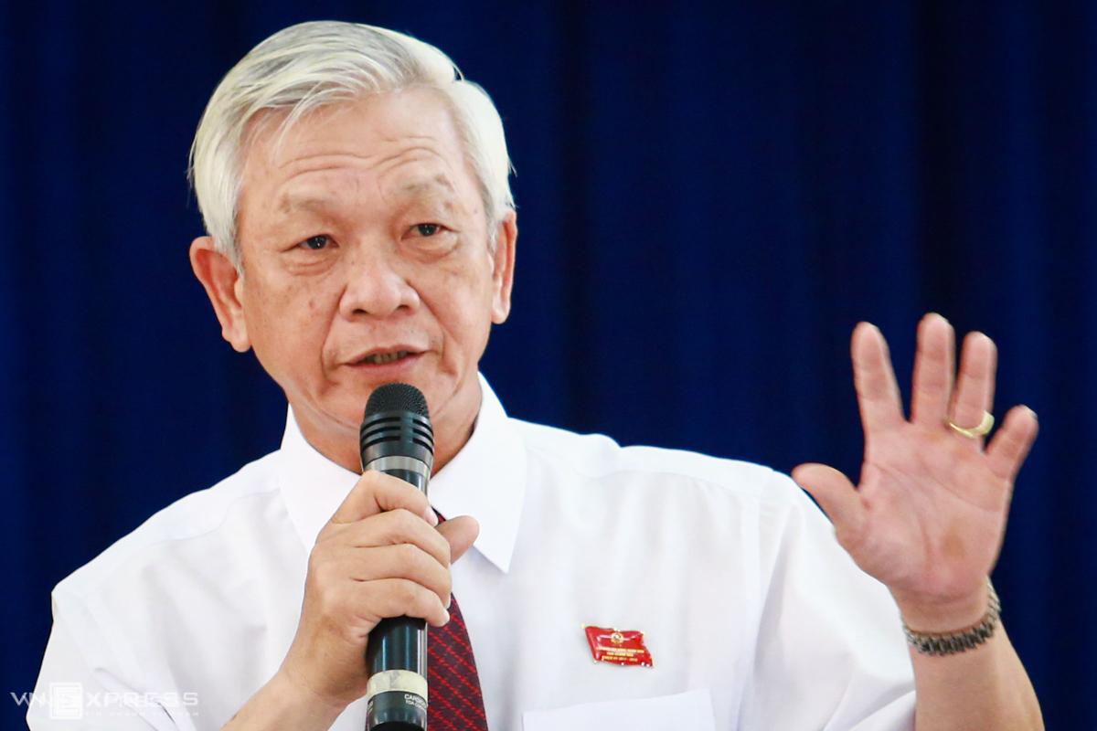 Ông Nguyễn Chiến Thắng, khi còn đương chức Chủ tịch UBND tỉnh Khánh Hòa, hồi tháng 7/2015. Ảnh: Thành Nguyễn.