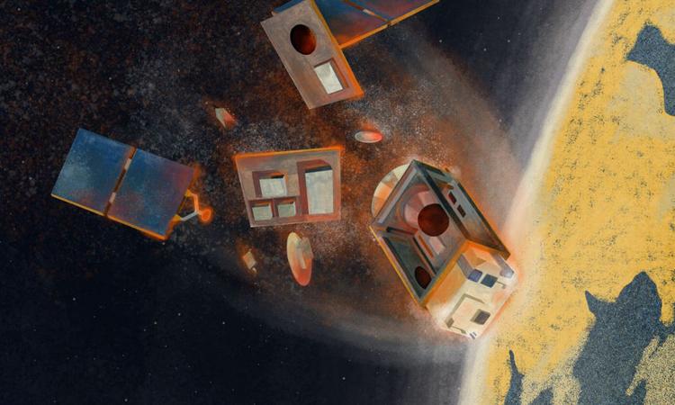 Sau khi ngừng hoạt động, các vệ tinh thường rơi trở lại khí quyển và cháy rụi. Ảnh: ESA.