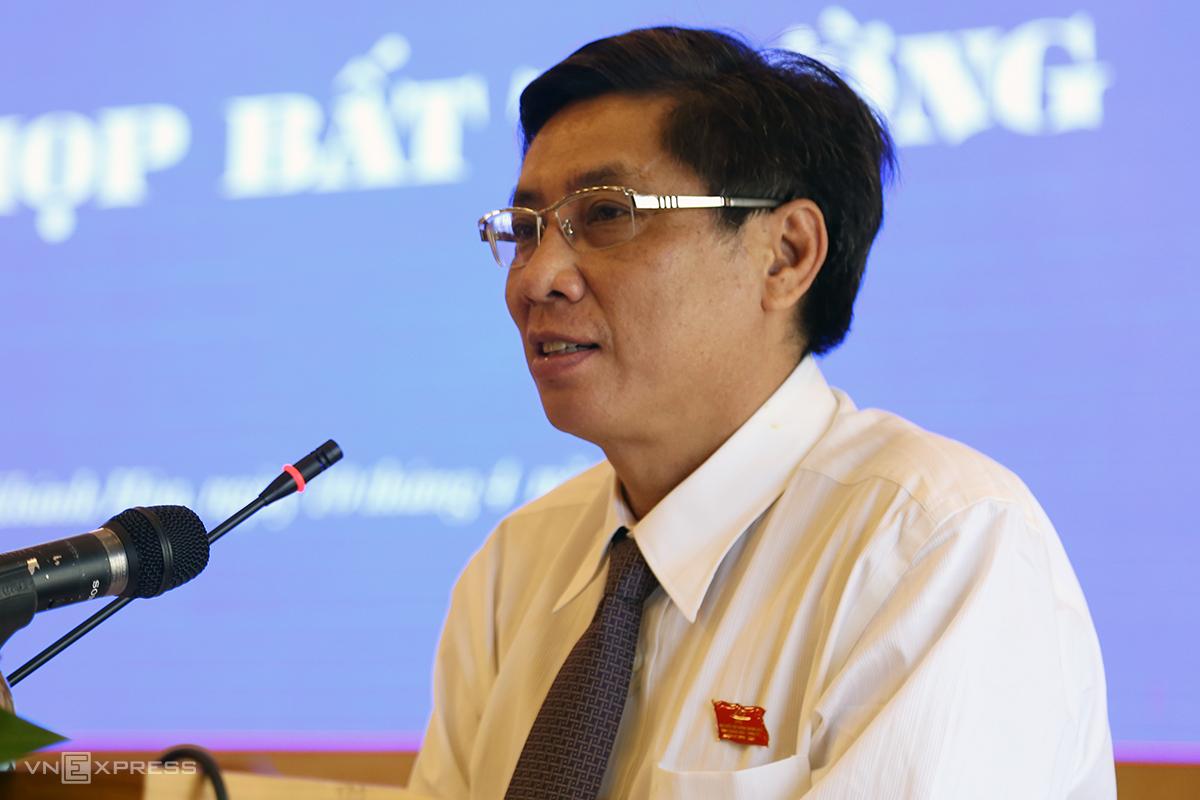 Ông Lê Đức Vinh, khi còn đương chức Chủ tịch UBND tỉnh Khánh Hòa, tháng 4/2019. Ảnh: Xuân Ngọc.