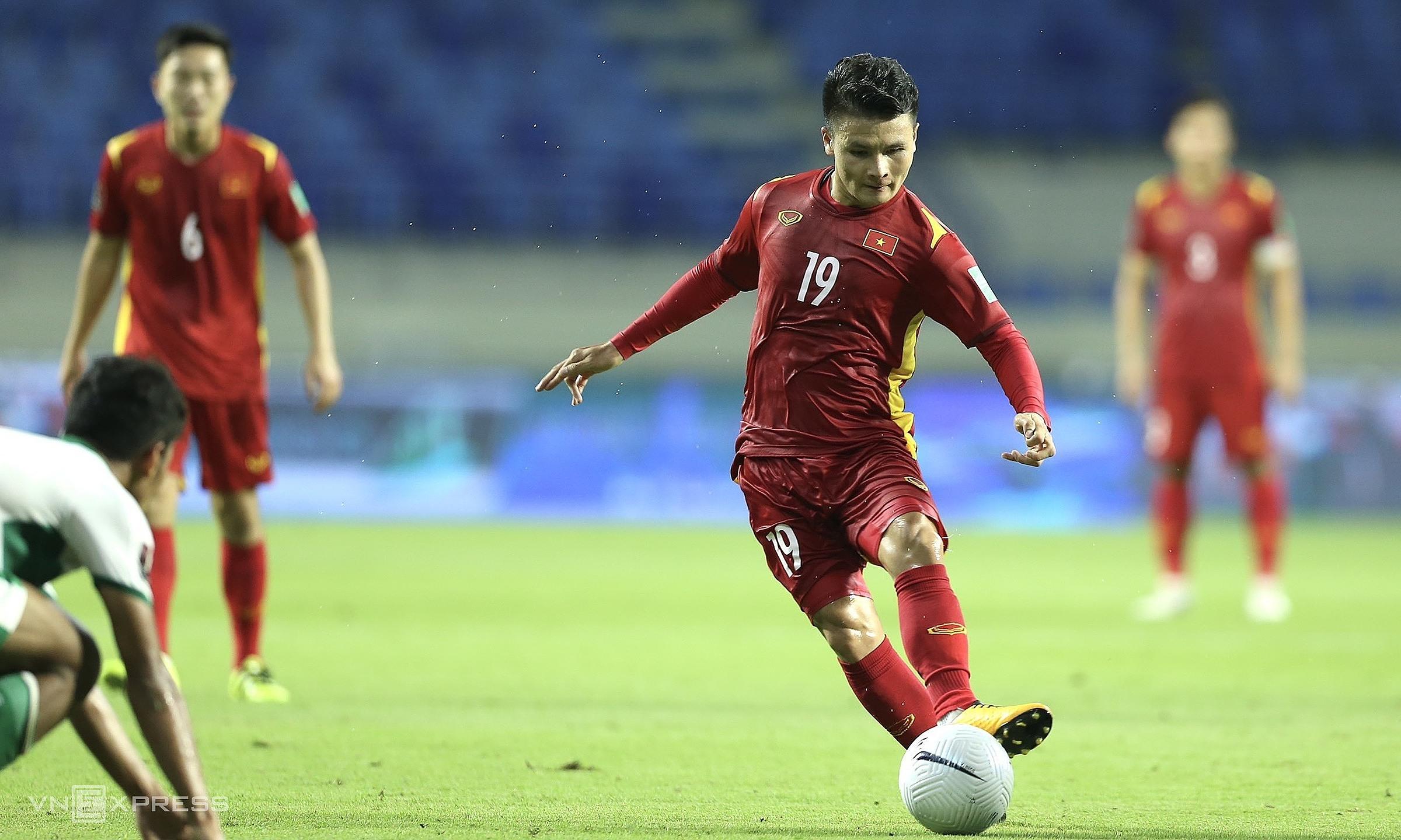 Chiến thắng 4-0 hôm 7/6 cho thấy Việt Nam đang ở một đẳng cấp hoàn toàn vượt trội trước Indonesia nói riêng và bóng đá Đông Nam Á nói chung. Ảnh: Lâm Thoả