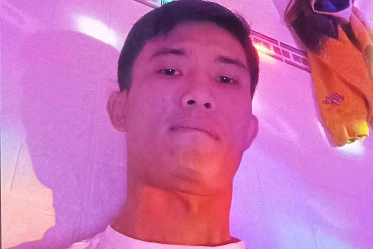Nghi can Huỳnh Văn Được khi cảnh sát truy bắt. Ảnh: Nhật Vy.