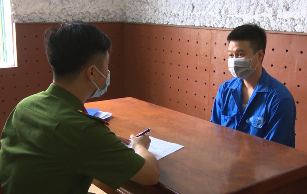 Thái tại cơ quan điều tra. Ảnh: Nguyễn Khánh