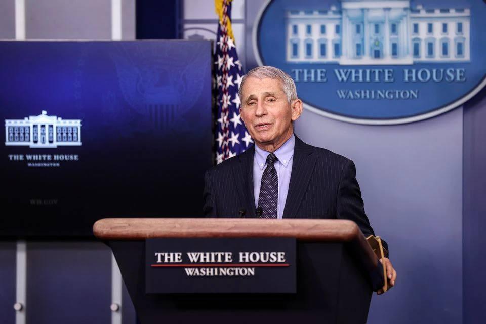 Bác sĩ Anthoni Fauci trả lời họp báo tại Nhà Trắng ngày 21/1. Ảnh: Reuters.