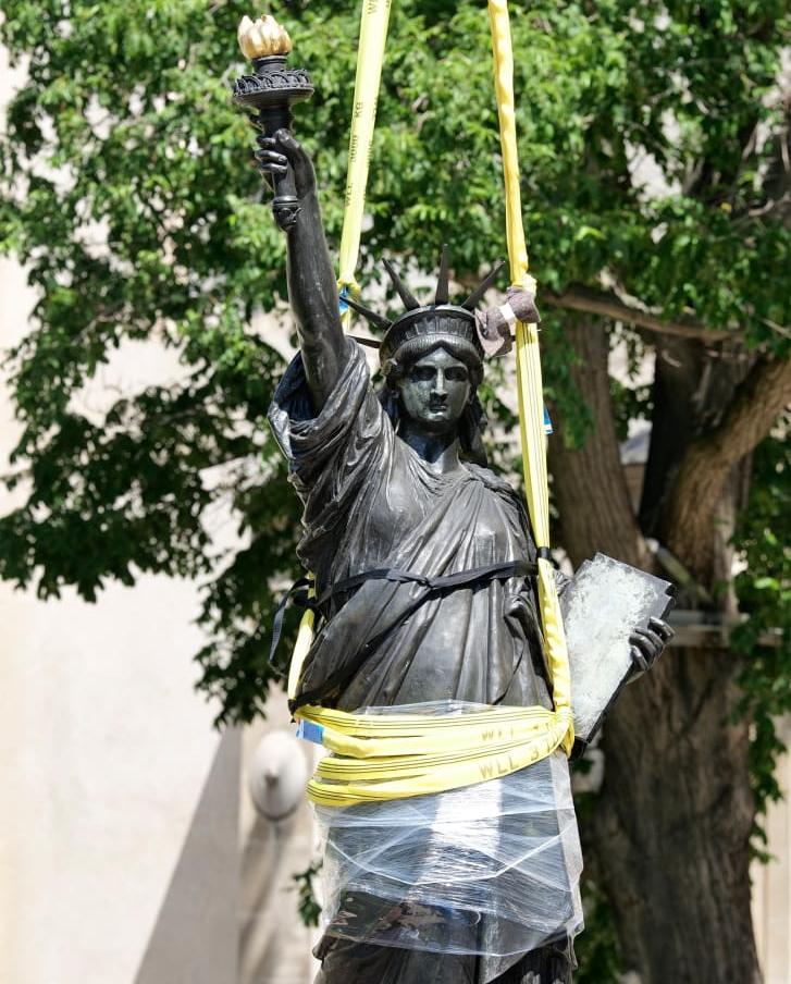Tượng Nữ thần Tự do trong Viện Bảo tàng Nghệ thuật và Thủ công Quốc gia ở Paris hôm 7/6. Ảnh: CNAM.
