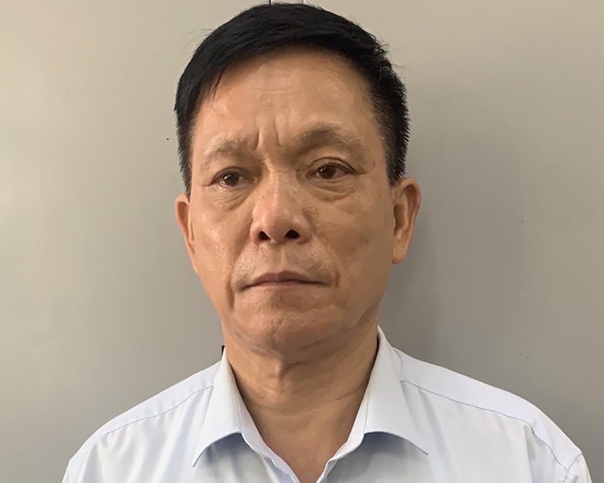 Nguyễn Quang Ngữ tại cơ quan điều tra. Ảnh: Bộ Công an.