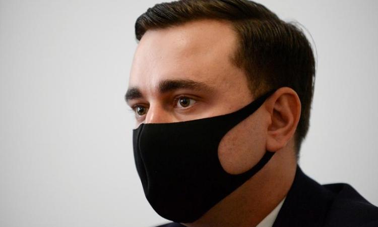 Ivan Zhdanov tại Brussels, Bỉ, hôm 22/2. Ảnh: Reuters.