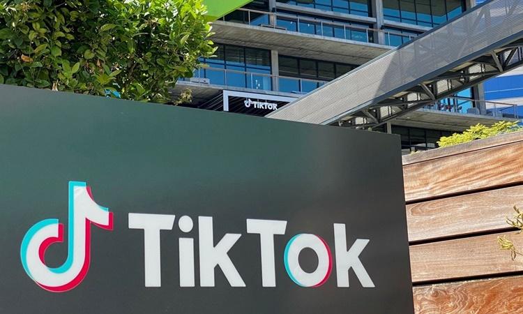Trụ sở của TikTok tại thành phố Culver, bang California. Ảnh: AFP.