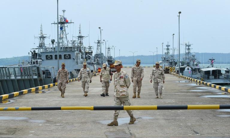 Cầu tàu tại căn cứ Ream của Campuchia hồi năm 2019. Ảnh: AFP.