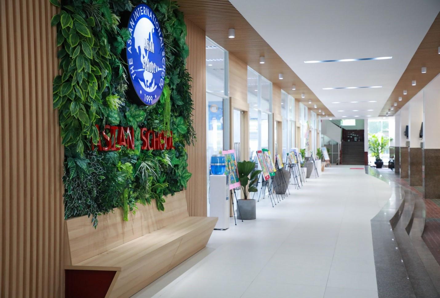 Một góc không gian của Asian School với cơ sở vật chất khang trang.