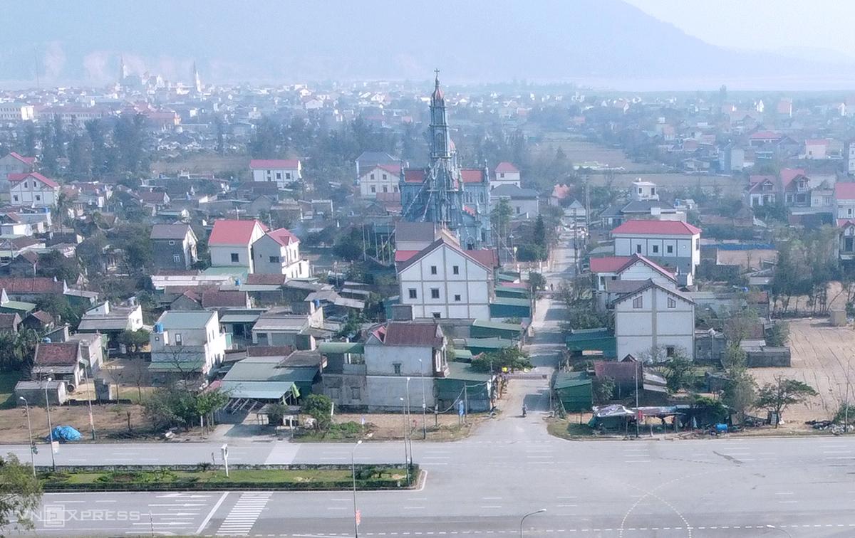 Một góc của thị trấn Lộc Hà, huyện Lộc Hà. Ảnh: Đức Hùng